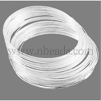 Steel Memory Wire,  Necklaces Making,  Nickel Free,  Nickel,  inner diameter: 11.5cm,  Wire: 0.6mm,  about 500 circles/500g
