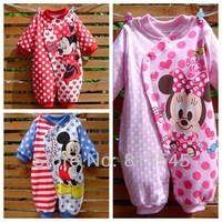 Cute Minnie Mickey Mouse Baby Romper Cartoon Bebe Jumpsuit Infantil Girl Boy Overall Newborn Kid Clothes Toddler Clothing Wear