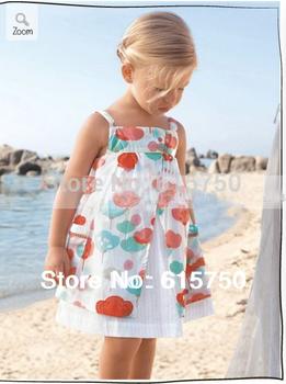 Christmas Girl Dress Print Pattern Button Sleeveless Cotton Baby Girls Dresses Princess Kids Clothes Casual Dress for Girls