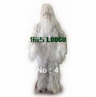 snow Ghillie Suit hunting clothing,camo Ghillie Suit camoflage suit,white ghillie suits free shipping