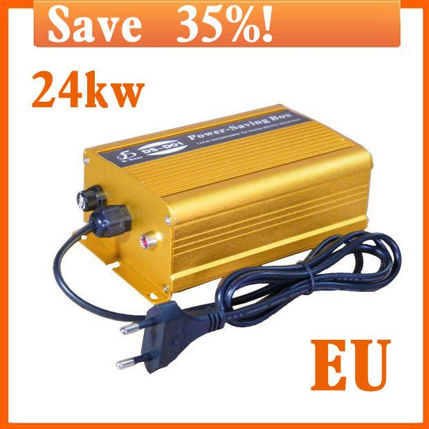 Electricity saving box power save 24KW Electric Energy save Power saving Resources up to 35% EU Plug use easy 110V-250V(China (Mainland))