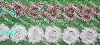 "Free DHL/EMS 60y 2.5"" print shabby chic chiffon flowers headbands chiffon flower headwears 77 stock colors for selection"
