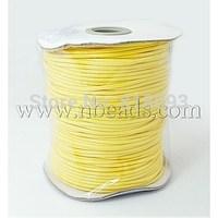 Stock Deals Korean Wax Cord,  Yellow,  2mm,  100yard/roll