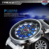 2013 New Car Watch Wheel Hub Led Hours Of The Man Watch Crazy Waterproof Clock Free Shipping