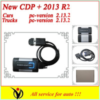 2013Newest version Common universal 2013 02 with LED no plastic box  gray TCS SCANNER+PRO Plus free activate for cars and trucks