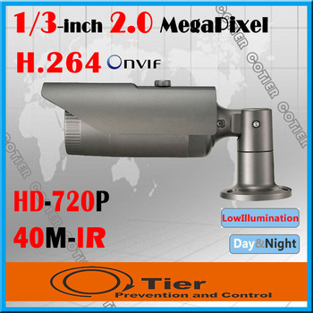 COTIER 652/L 1/3inch Megapixel Low Illumination CMOS Aluminum Alloy Shell  40m IR Night Vision Bullet Security IP Network Camera