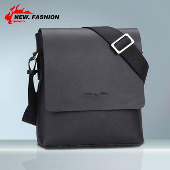 Hot Sale Casual PU Leather Men Messenger Bags, Special offer Fashion Men Bags, Men's Shoulder Bag Black 1825 Free shipping