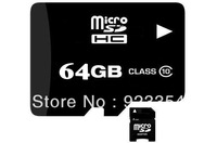 FREE shipping class 10 micro sd card 32gb 64GB microsd Transflash TF Card for Cell phone mp3 with card adapter free