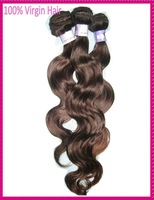 6A Queen Wet and Wavy 4pcs/lot Virgin Brazilian bodywave hair weaves 95-100g/piece   free shipping