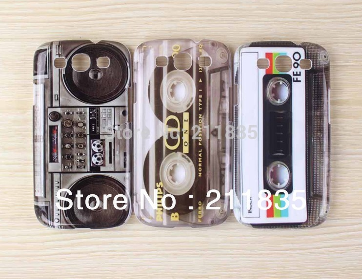 Retro Tape / CD Cassette Recorder Style Hard Plastic Skin Case Back Cover for Samsung Galaxy S3 SIII i9300(China (Mainland))