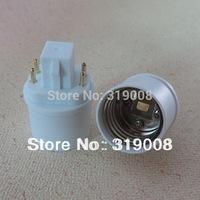 In stock! G24q to E26 bulb adapter ( 4pin) gx24q to e26 base adaptor converter 40pcs/lot by DHL FREE SHIPPING