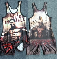 Can custom Movie 300 Leotards Wrestling Singlet Wear Uniform Weightlifting Outfit