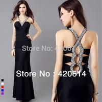 Free Shipping Evening Dress 2014 New Arrival, Fashion Lady Long Murad Women Sexy Evening Dresses, Hot Sale Dress 2085
