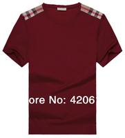 FREE SHIPPING 2014 NEW ARRIVAL, BRAND MEN T SHIRT, SHORT-SLEEVE TSHIRT MEN, FASHION AND FORMAL TSHIRTS MEN B39346 M--XXXL