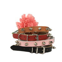 Free shipping 2013 Lefdy New collar for Dog with spike and  Genuine  Leather  this shop hot  sell spiked pitbull
