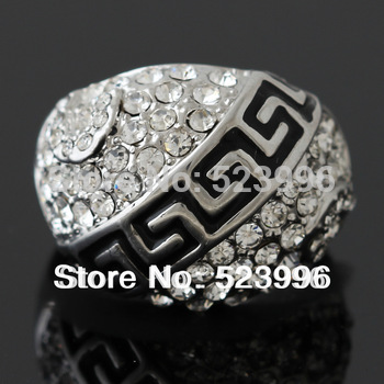 New 2013 VOYAGER Fashion Rhinestone Jewelry Infinity Ring Classic Model Exaggerated The Men Ring J00200  Free Shipping