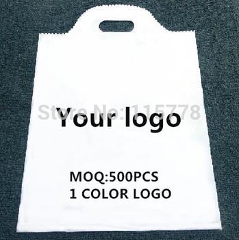 30*40CM plastic handle bags with logo plastic packing bags with logo printed /  /plastic bags with logo/custom logo plastic bag