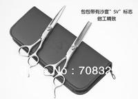 Free Shipping! 6.0'' inch VS Hair Scissors Shear Cutting and Thinning Scissor Barber Scissor and shears bag
