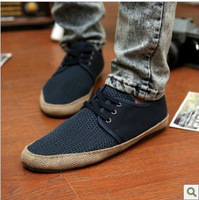 NEW ARRIVAL!2013 Britsh Men's Casual Lace Breathe Freely Canvas Sneakers Slip On Loafer Shoes LS025