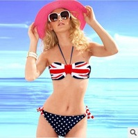 Free Shipping,2013 USA Flag Pattern Bikini,Printing Bikini Swimwear, Fashion Bathing Suit,Women Beach Swimsuit,S M L