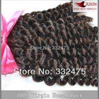 "Afro Kinky Curly  Hair Extensions 100% Human Hair Weave Peruvian Virgin Hair Mixed Length 3PCS 8""-32"" Lot  DHL FREE SHIPPING"