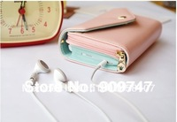 2013 NEW ! foctory price Women's Multi Propose envelope Wallet Purse for iphone 4 4S 5 Galaxy S2 S3 Case  free Shipping