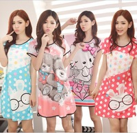 Retail 2013  Summer Sleepwear High quality cotton  girl Underwear Pajamas Dress RU02