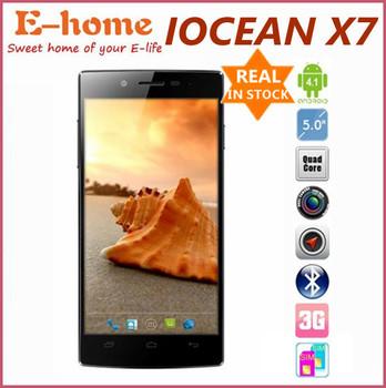 5 inch iocean X7 HD MTK6582 Quad Core 1.3GHz IPS 1280X720 Bluetooth WIFI Dual Camera 8.0MP 1GB ROM WCDMA Android 4.2 8GB ROM