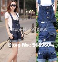 New big Size XXXL Women's Overalls Jeans Gallus Shorts/Ladies' Denim Jumpsuits/Female suspenders/Large Size short Trousers/WFL