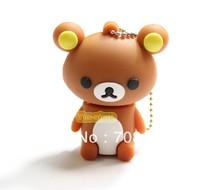 Bear Shape USB Memory Flash Drives 1GB 2GB 4GB 8GB 16GB 32GB Free Shipping  Best Gifts Pendrive