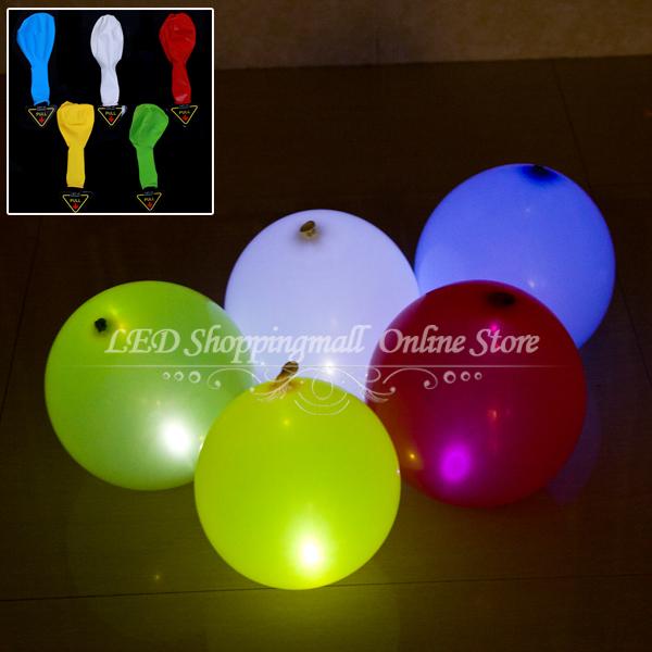 """Führte ballons 30 stück/lot, 12"""" latex schlauchboot 5 farbe ballon licht für hochzeit dekoration kostenloserversand"""