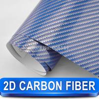Wholesale 2 D Carbon Fiber Vinyl Wrap sticker in Different Colors 1.52x30 M