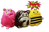 Freeshipping news children cartoon animal school bag cute kids pu leather backpack