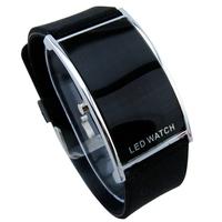 12 Color Retail Fashion LED Watch for Ladies/Digital Bracelet Wristwatches/Women Men Kids Boys Girls Unisex/ Silicone LED012