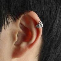2014 New Hot Silver Skeleton Hand Skull Cartilage Earrings Clip Wrap Ear Cuff  36pcs/lot