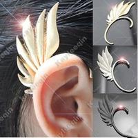 Fashion Punk Metal Fairy Wings Ear Hook Angel Earrings No Pierced Earrings Clips Elf Ear Cuff  24pcs/lot