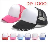 wholesale promotion blank trucker mesh cap hand printng plain DIY LOGO truck mesh cap team mesh cap travel mesh cap