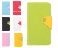 Free shipping Color Matching Leather Full Body Back Cover Phone Case for Samsung Galaxy S4 I9500(Assorted Colors)