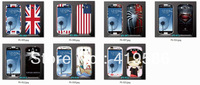 7 designs Cartoon US UK Flag Man of Steel Captain America Front+Back Screen Protective Sticker For Samsung I9300 Galaxy S3 III