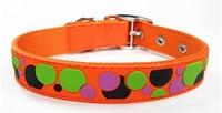 Wholesale Pet Collar Lead Dog Cat Collar Pet Product for Large Dog Collar PVC Nylon Leather Fashion Collar For Dog Cat 12pcs/lot