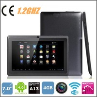 7 inch tablet pc Allwinner A13 1.2GHZ 4GB 512MB wifi 2800mAH 5-point touch capacitive screen Android 4.0,Cheapest table pcs
