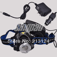 NEW 1600 Lumen CREE XM-L T6 LED Headlamp/ Bike lights Coal Miner Zoom Focus LED Head Lamp Torch Cree Light Outdoor