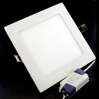 Hot Room Stroe Super Market 16W Square led panel light ceiling Super Bright Warm White Light AC85-265V Free Shipping