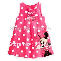 Retail Free shipping Summer new arrival minnie mouse & dot girl dress,girl dresses,children dress