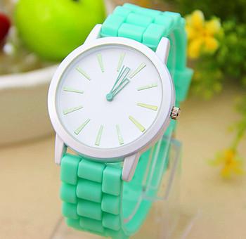 11 цветов новинка швейцарских часов силикон часы для женщин платье часы кварцевые часы 1 шт./лот