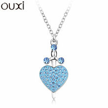 NLA074 Cupid Arrow Pendant Necklace Made With Top Austrian Crystal Thick 18K / White Gold Plated Free Shipping