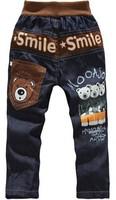 free shipping High Quality kids jeans cartoon clothing boy jeans pants children's trouses sports boy jeans wholesale 1lot=4pcs