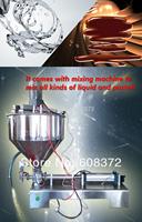 semi automatic horizontal type pneumatic single nozzle liquid paste mixing filling machine suitable for 5ml 300ml 1000ml 5000ml