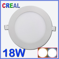Ultra bright 18W led panel lighting white round Cree recessed ceiling hotel bathroom lamp