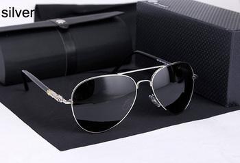 Stainless Steel with logo MB209B Sunglass Men Brand 2015,UV400CE Reduce fatigue Polaroid Lens Sunglasses Men Polarized Aviator